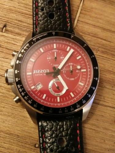 Rare RED Decker Chronograph Quartz 100 Mens DIVE Watch