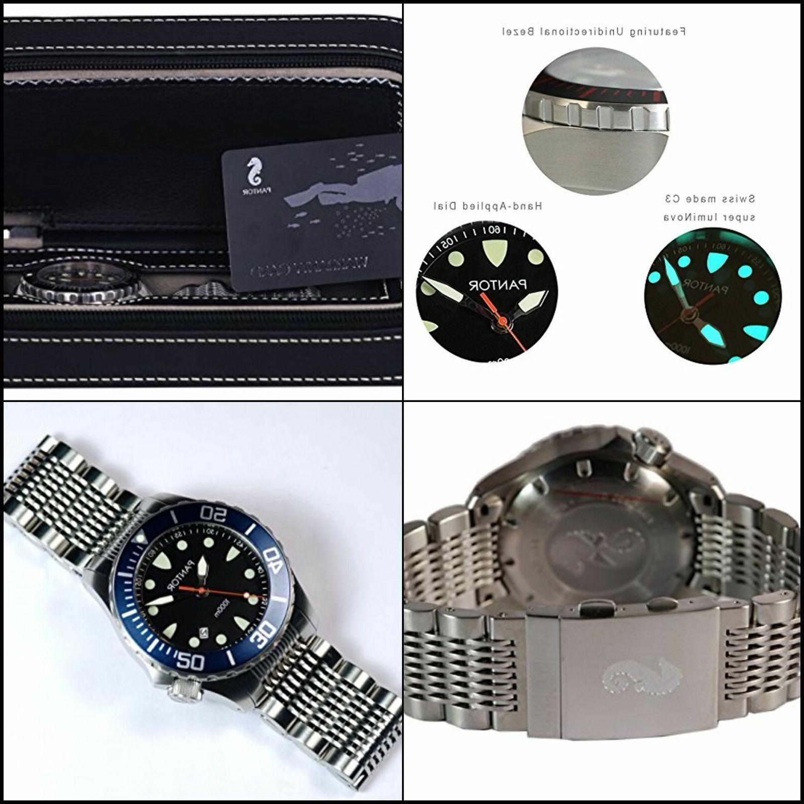 Pantor Seahorse 1000m Big Size 45mm Pro Dive Automatic Watch