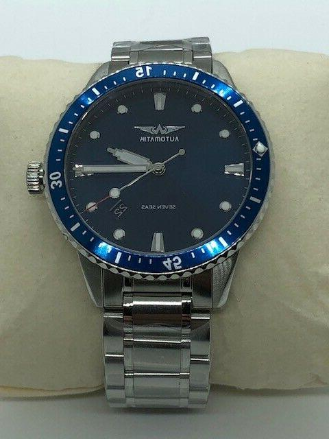 Automatik Seven Automatic Blue Watch 42mm Crystal