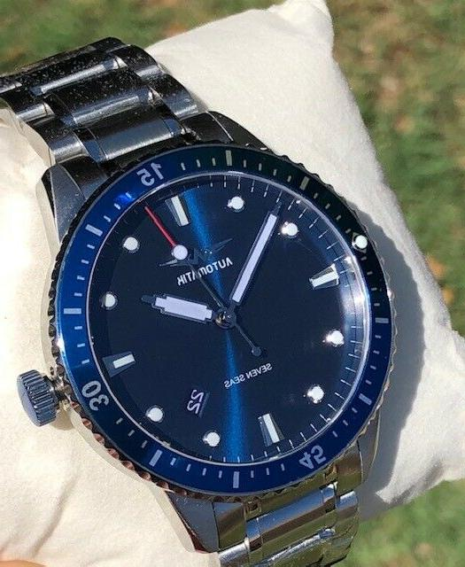 Automatik Seas NH35 Automatic Mens Blue Watch 42mm
