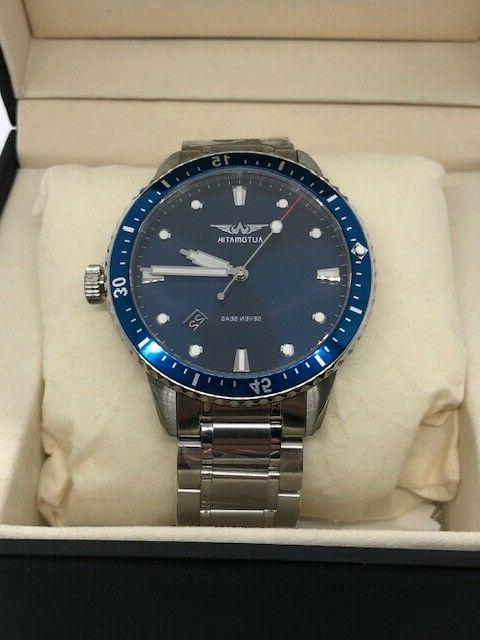 Automatik Seven Automatic Blue Dive Watch 42mm Sapphire Crystal
