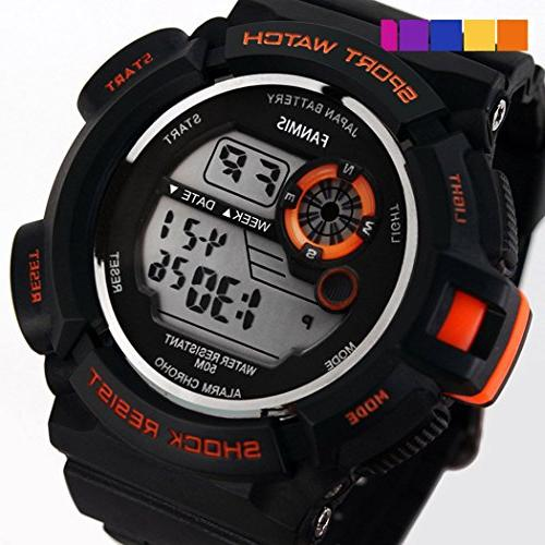 Fanmis S-Shock Digital Water Resistant Watches
