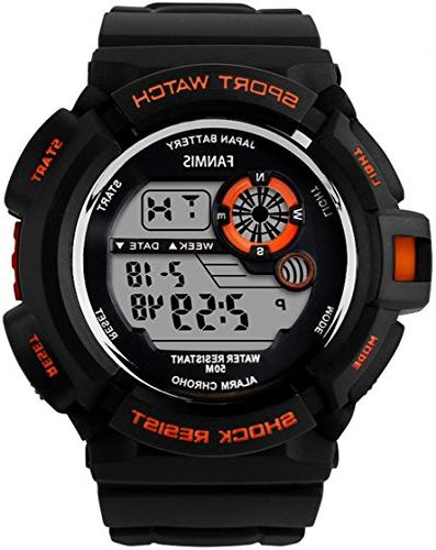 Fanmis S-Shock Multi Digital Quartz Watch Water Electronic Sport Watches