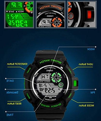 Fanmis S-Shock Multi Digital Water Resistant Sport Watches