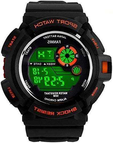 shock multi function quartz watch