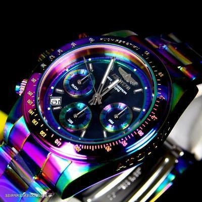 Invicta Speedway Iridescent Chronograph Black Mother of Pear