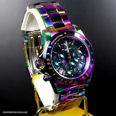 Invicta Iridescent Black Mother of Pearl 40mm New
