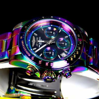 Invicta Speedway Iridescent Black Mother Pearl 40mm New