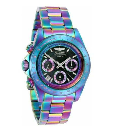 speedway iridescent chronograph black mother