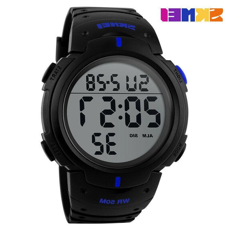 sports watch dive 50m digital military watch