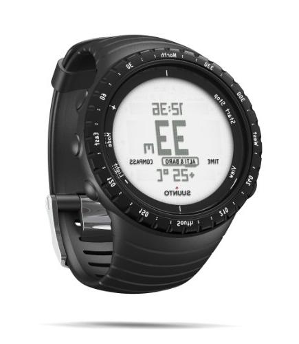 SUUNTO Digital Display Quartz Black Band, Round 49.1mm Case