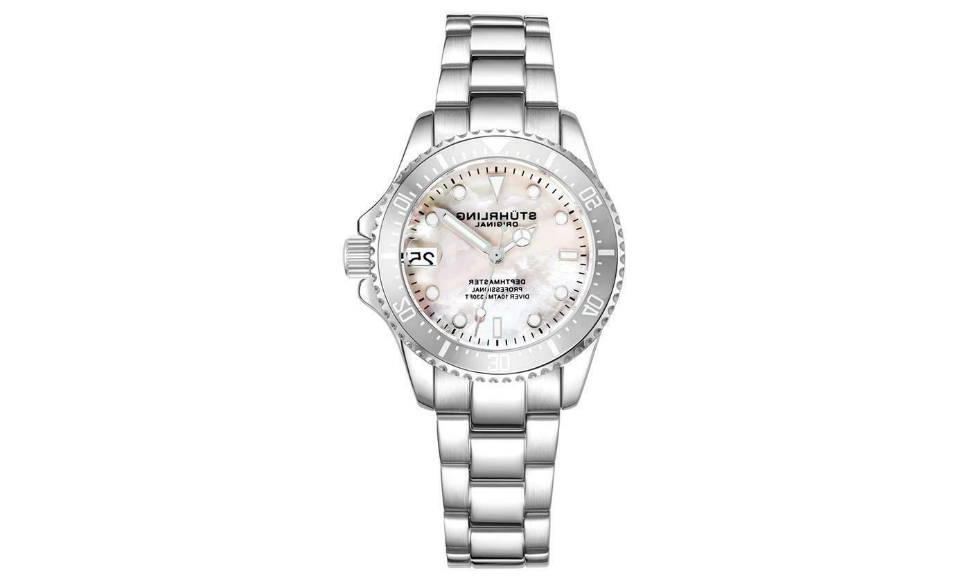 stuhrling women s dive watch silver white