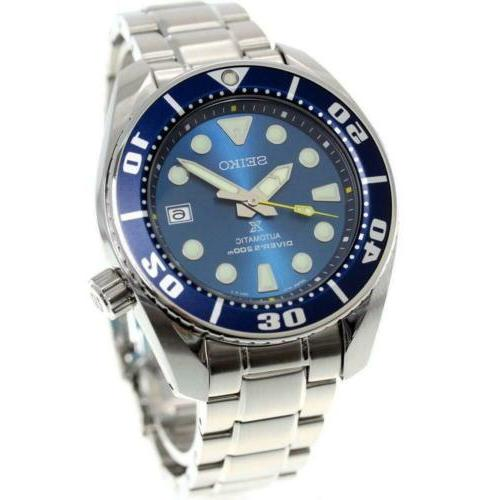 SEIKO PROSPEX DIVE WATCH BLUE STAINLESS STEEL US