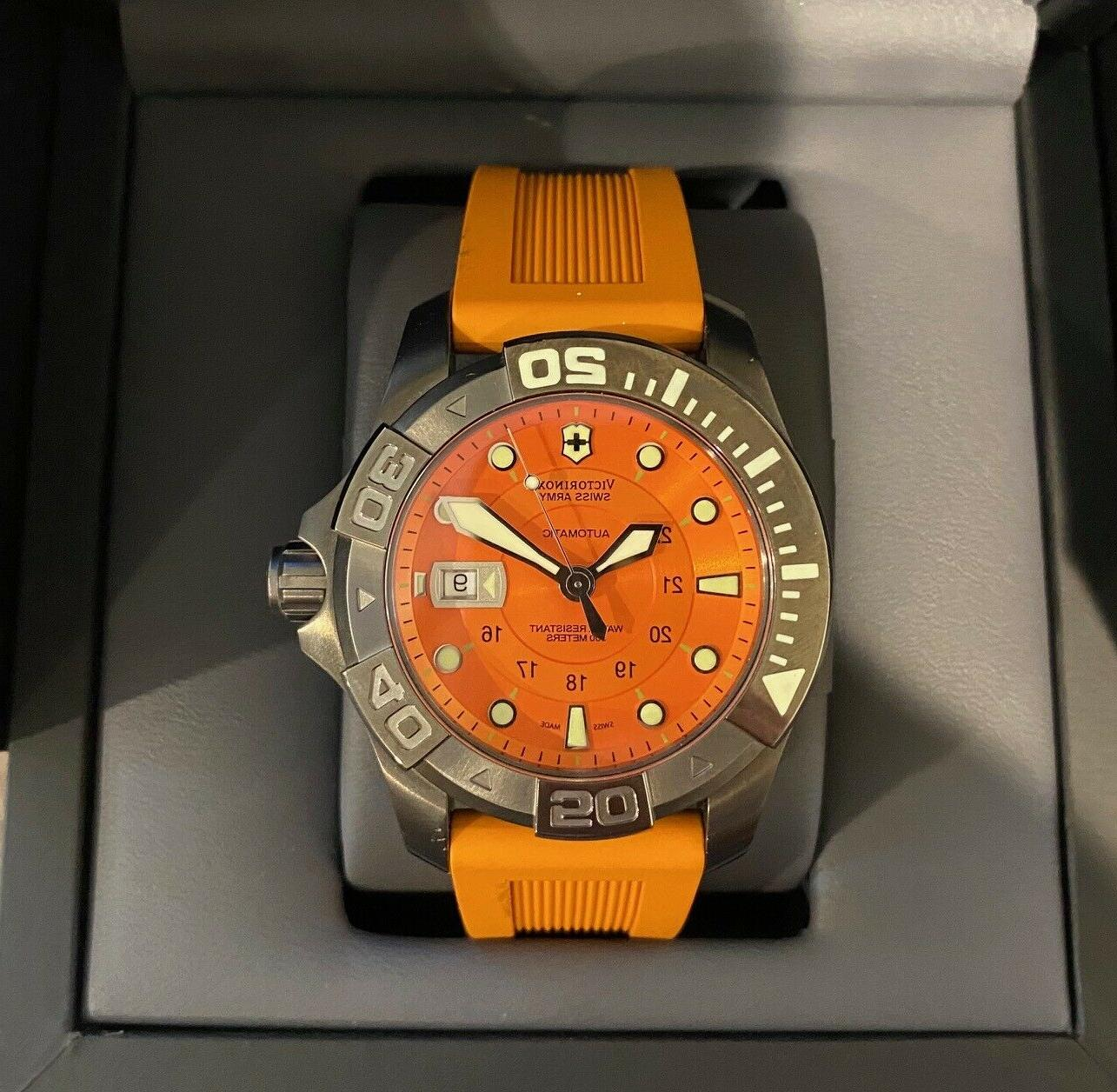 swiss army dive master 500 orange rubber