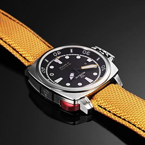 Marvin Swiss Automatic Pro 200m Watch with and Yellow