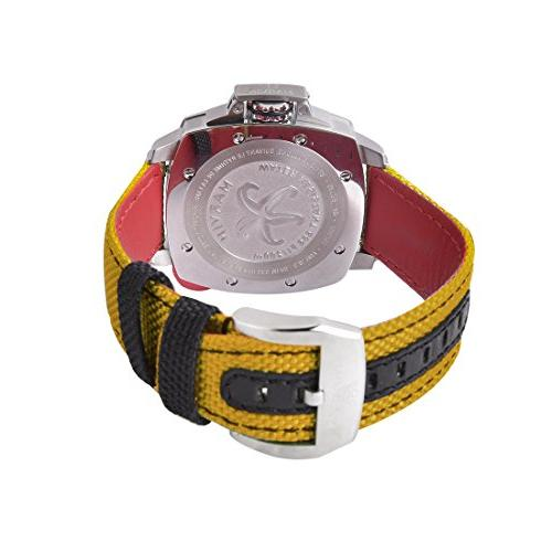 Marvin Pro Dive Watch,Waterproof to 200m Sport Watch with Black Dial and Yellow
