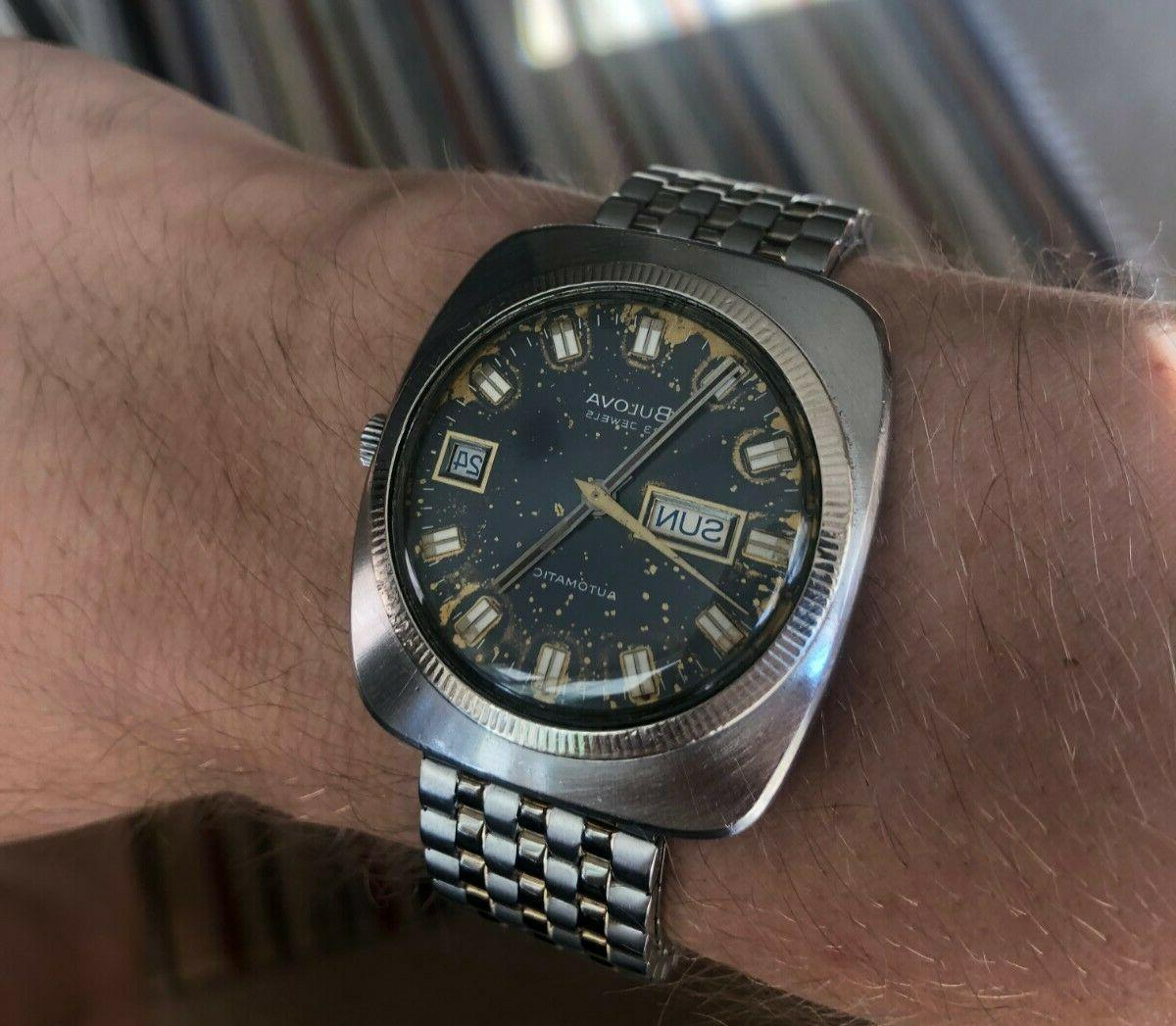 Mens Automatic Patina Great Condition