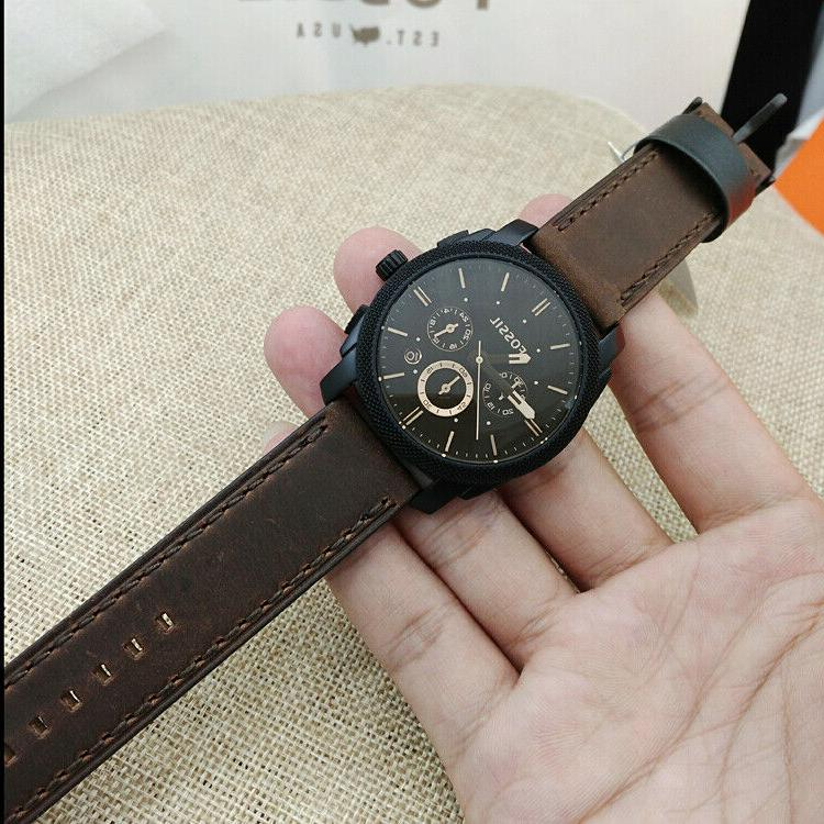 Fossil Watch Man's Mid-Size Chronograph Black