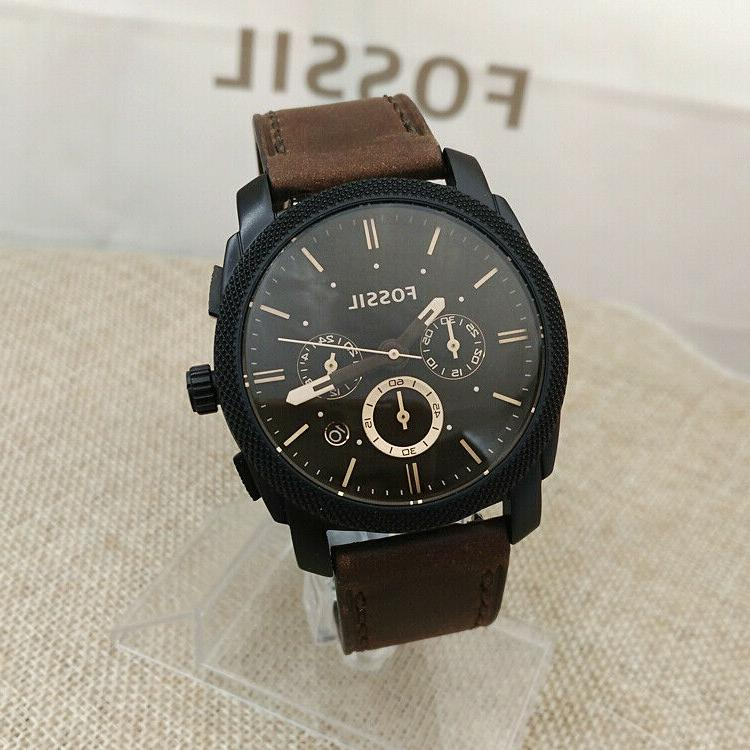 watch man s mid size chronograph brown