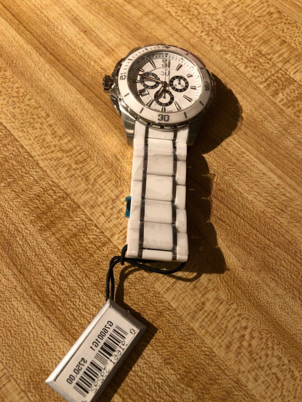 white and silver brand new diving watch