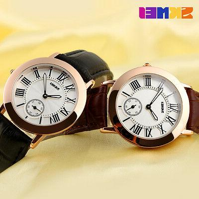 SKMEI Women Leather Numerals Dive