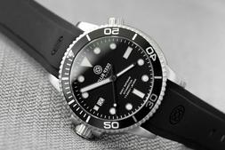 Deep Blue Master 1000 Automatic Dive Watch, Black Dial, Blac
