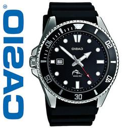 Casio MDV106-1AV Men's Duro 200M Black Resin Band Black Dial