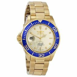 Invicta Men's 14124 Pro Diver Gold Dial 18k Ion-plated Stain