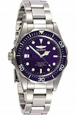 Invicta Men's 9204 Blue Dial Pro Diver Collection Silver-Ton