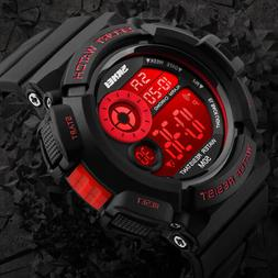 Men's Army SHOCK Sport Quartz Wrist Day Date Digital Watch W