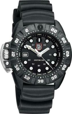 Luminox Men's Black Dial Black Rubber Band Scott Cassell Dee