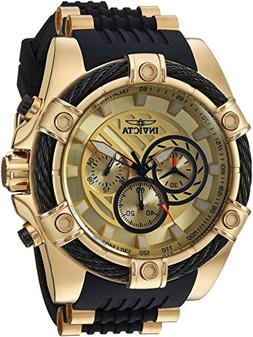Invicta Men's 'Bolt' Quartz Stainless Steel and Silicone Cas