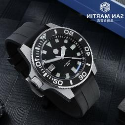 San Martin Men's Diving Automatic Watches 30ATM Sapphire cry