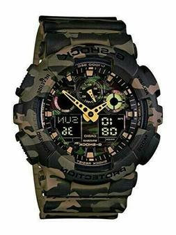 Casio Men's GA-100CM-5ACR Woodland camouflage G-SHOCK watch