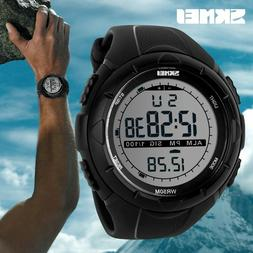 SKMEI Men's Sports Watch Diving 50m Digital LED Military Cas