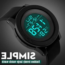 Mens Sports Watches Electronic Watch Dive 50M LED Waterproof