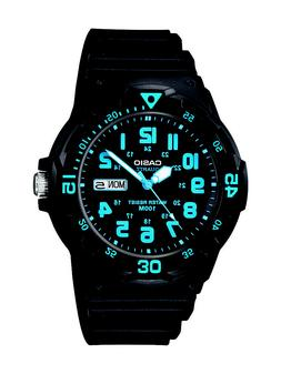 Casio Unisex MRW200H-2BV Neo-Display Black Watch with Resin