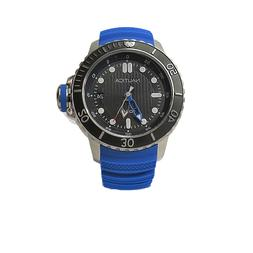 Nautica Men's NMX Dive Style 50mm with Date Blue Silicone St