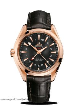 NEW OMEGA 18K RED GOLD SEAMASTER AQUA TERRA GMT DIVING WATCH