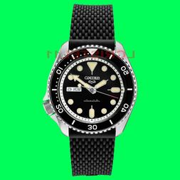NEW Seiko 5 Mens Black Dial Dive Watch SRPD95 Automatic 100m