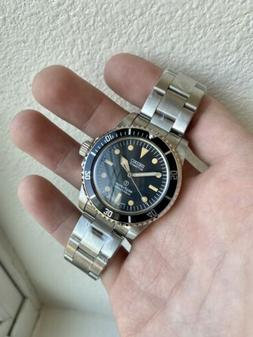 NEW! Seiko Black classic Mod Submariner NH35 Dive Watch Auto