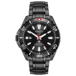New Citizen Eco-Drive Men's Promaster Black PVD Steel Dive W