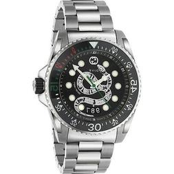 New Gucci Dive Black Dial Men's Stainless Steel Watch YA1362