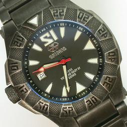 NEW GENTS $500 REACTOR 45MM BLACK DIAL PVD SS 300M WR GAMMA
