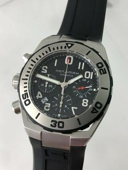 New Hamilton Khaki Navy Sub Auto Chrono H78716333 Dive Watch