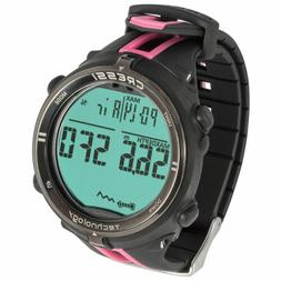 Cressi Newton Wrist Dive Computer Watch - Black / Pink