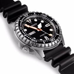 CITIZEN NH8380-15E Automatic Analog Day-Date Black Stainless