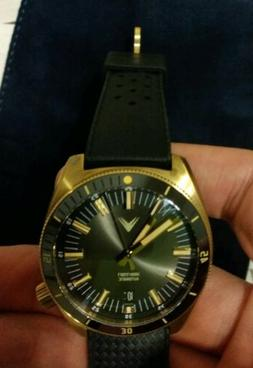northstar brass case black automatic dive watch
