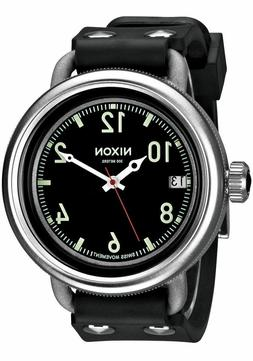 Nixon Men's October A488000 Black Rubber Swiss Quartz Watch