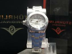 Stuhrling Original Women's Dive Watch - Metallic/White Gp171